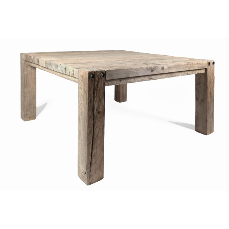 tavolo quadrato abete vecchio